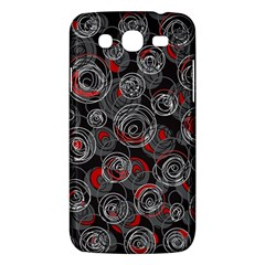 Red And Gray Abstract Art Samsung Galaxy Mega 5 8 I9152 Hardshell Case  by Valentinaart
