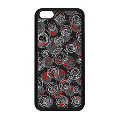 Red And Gray Abstract Art Apple Iphone 5c Seamless Case (black) by Valentinaart
