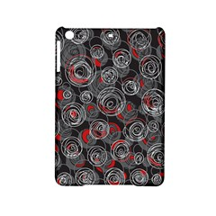 Red And Gray Abstract Art Ipad Mini 2 Hardshell Cases by Valentinaart