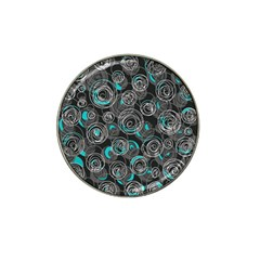 Gray And Blue Abstract Art Hat Clip Ball Marker by Valentinaart
