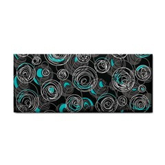 Gray And Blue Abstract Art Hand Towel by Valentinaart