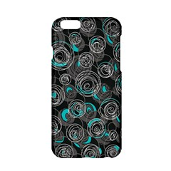 Gray And Blue Abstract Art Apple Iphone 6/6s Hardshell Case by Valentinaart