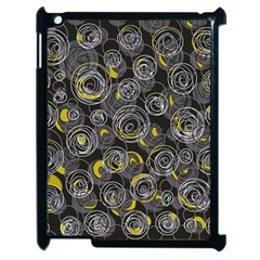 Gray And Yellow Abstract Art Apple Ipad 2 Case (black)