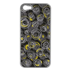 Gray And Yellow Abstract Art Apple Iphone 5 Case (silver)
