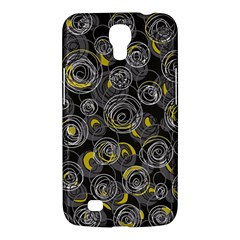 Gray And Yellow Abstract Art Samsung Galaxy Mega 6 3  I9200 Hardshell Case by Valentinaart