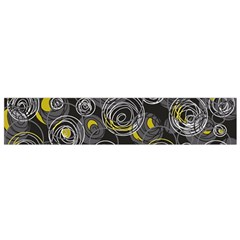 Gray And Yellow Abstract Art Flano Scarf (small)