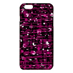 Magenta Abstract Art Iphone 6 Plus/6s Plus Tpu Case by Valentinaart