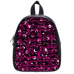 Magenta Abstract Art School Bags (small)  by Valentinaart