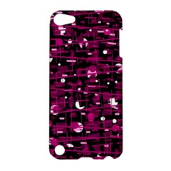 Magenta Abstract Art Apple Ipod Touch 5 Hardshell Case by Valentinaart