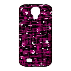 Magenta Abstract Art Samsung Galaxy S4 Classic Hardshell Case (pc+silicone) by Valentinaart
