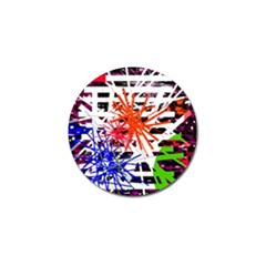 Colorful Big Bang Golf Ball Marker (4 Pack) by Valentinaart