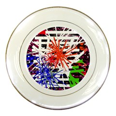 Colorful Big Bang Porcelain Plates by Valentinaart