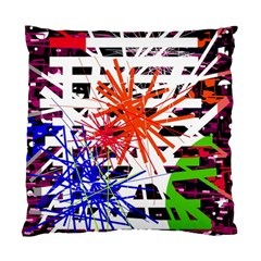Colorful Big Bang Standard Cushion Case (one Side) by Valentinaart
