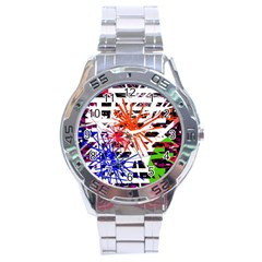 Colorful Big Bang Stainless Steel Analogue Watch