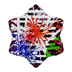 Colorful Big Bang Snowflake Ornament (2 Side) by Valentinaart