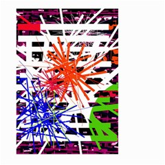Colorful Big Bang Large Garden Flag (two Sides) by Valentinaart