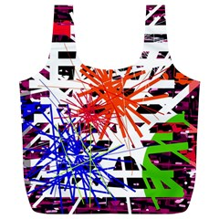 Colorful Big Bang Full Print Recycle Bags (l)  by Valentinaart