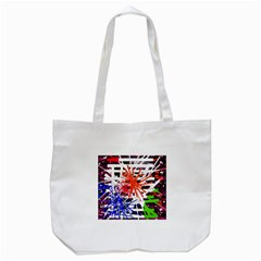 Colorful Big Bang Tote Bag (white)