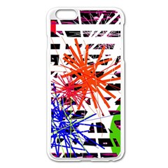 Colorful Big Bang Apple Iphone 6 Plus/6s Plus Enamel White Case by Valentinaart