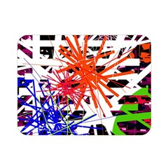 Colorful Big Bang Double Sided Flano Blanket (mini)  by Valentinaart
