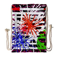 Colorful Big Bang Drawstring Bag (large) by Valentinaart