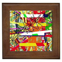 Colorful Abstraction By Moma Framed Tiles by Valentinaart
