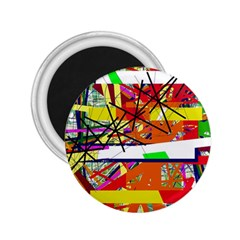 Colorful Abstraction By Moma 2 25  Magnets by Valentinaart