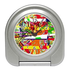 Colorful Abstraction By Moma Travel Alarm Clocks