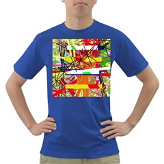 Colorful Abstraction By Moma Dark T-shirt by Valentinaart