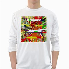 Colorful Abstraction By Moma White Long Sleeve T Shirts by Valentinaart