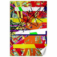 Colorful Abstraction By Moma Canvas 24  X 36  by Valentinaart