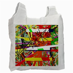 Colorful Abstraction By Moma Recycle Bag (one Side) by Valentinaart