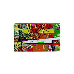 Colorful Abstraction By Moma Cosmetic Bag (small)  by Valentinaart