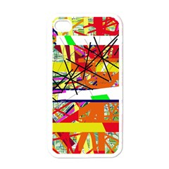 Colorful Abstraction By Moma Apple Iphone 4 Case (white) by Valentinaart
