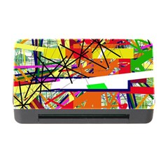 Colorful Abstraction By Moma Memory Card Reader With Cf by Valentinaart