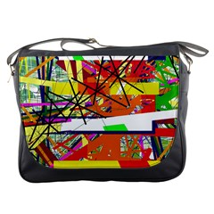 Colorful Abstraction By Moma Messenger Bags by Valentinaart