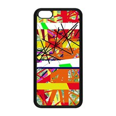 Colorful Abstraction By Moma Apple Iphone 5c Seamless Case (black) by Valentinaart