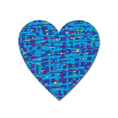 Blue Decorative Art Heart Magnet by Valentinaart