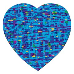 Blue Decorative Art Jigsaw Puzzle (heart) by Valentinaart