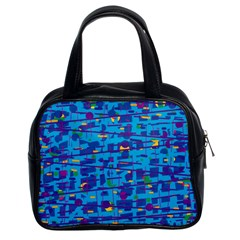 Blue Decorative Art Classic Handbags (2 Sides)