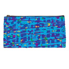 Blue Decorative Art Pencil Cases by Valentinaart