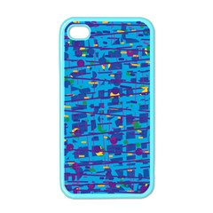Blue Decorative Art Apple Iphone 4 Case (color) by Valentinaart