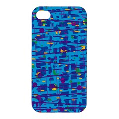 Blue Decorative Art Apple Iphone 4/4s Hardshell Case by Valentinaart