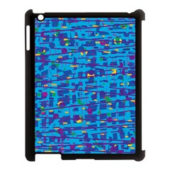 Blue Decorative Art Apple Ipad 3/4 Case (black) by Valentinaart