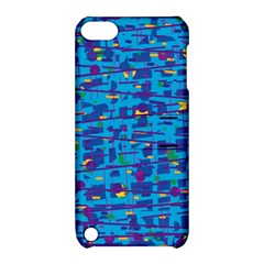 Blue Decorative Art Apple Ipod Touch 5 Hardshell Case With Stand