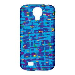 Blue Decorative Art Samsung Galaxy S4 Classic Hardshell Case (pc+silicone) by Valentinaart