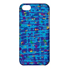 Blue Decorative Art Apple Iphone 5c Hardshell Case by Valentinaart