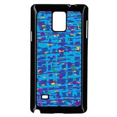 Blue Decorative Art Samsung Galaxy Note 4 Case (black) by Valentinaart