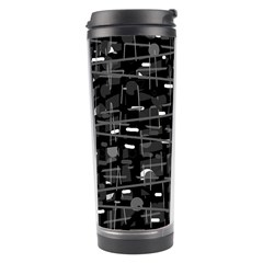Simple Gray Travel Tumbler by Valentinaart