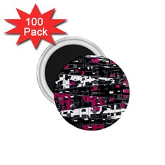 Magenta, White And Gray Decor 1 75  Magnets (100 Pack)  by Valentinaart